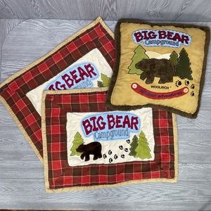 Woolrich kids big bear campground pillow & covers